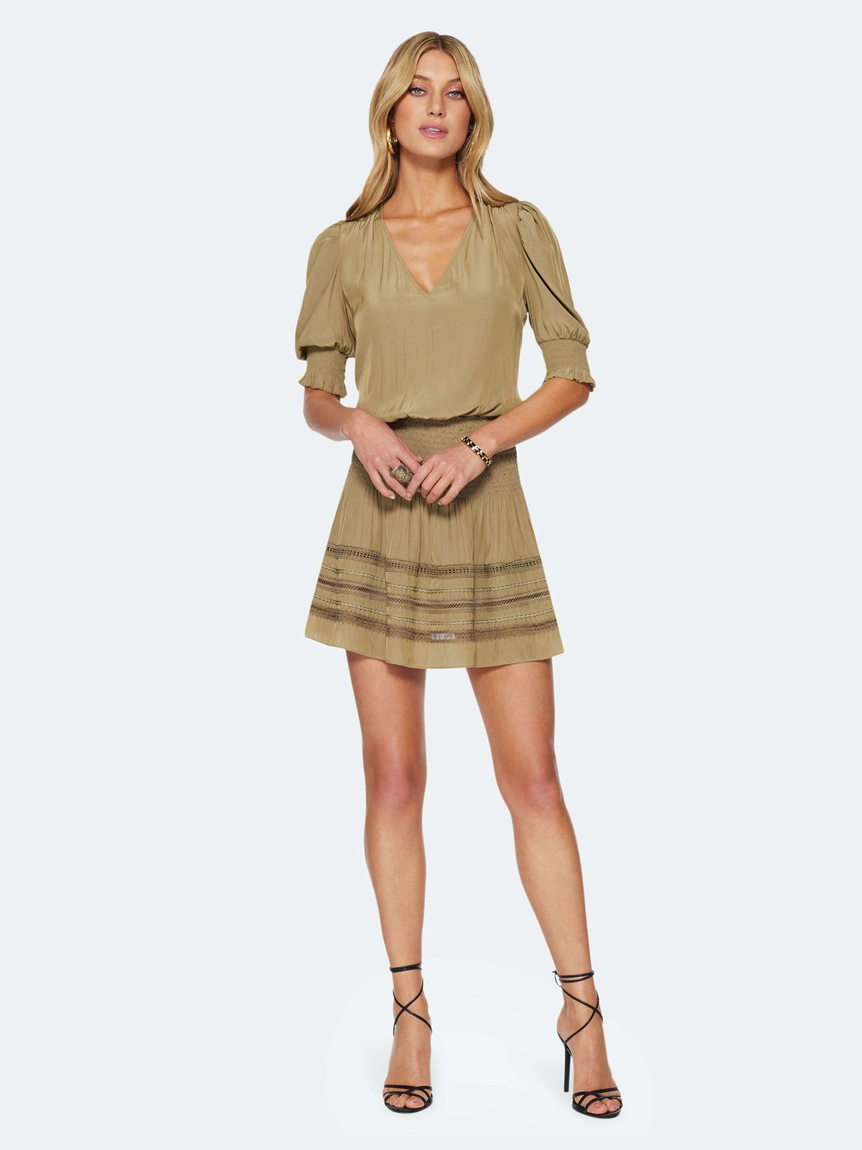 Ramy Brook Mini skirts RAMY BROOK OLLIE DROP WAIST SKIRT