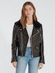 Rebecca Minkoff Andrea Leather Trim Crepe Wool Jacket product image