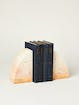 Rose & Fitzgerald Marbled Soapstone Curved Bookend Set product image