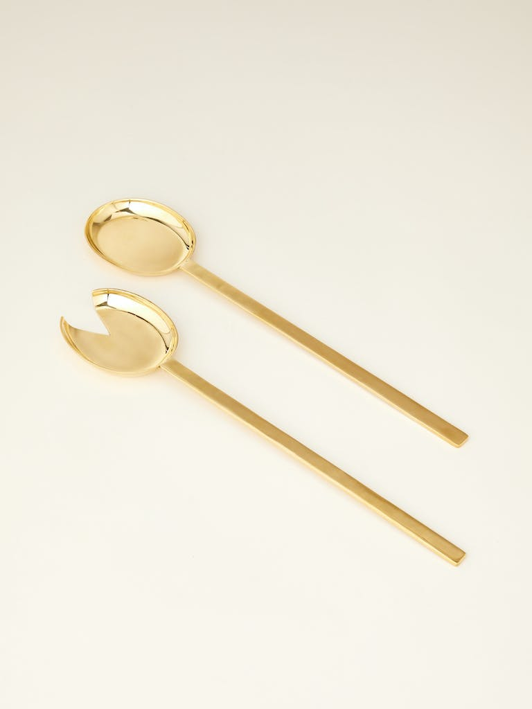 Rose & Fitzgerald Pure Brass Serving Spoon Set product image