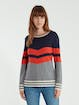 Sail to Sable Chevron Stripe Long Sleeve Sweater product image