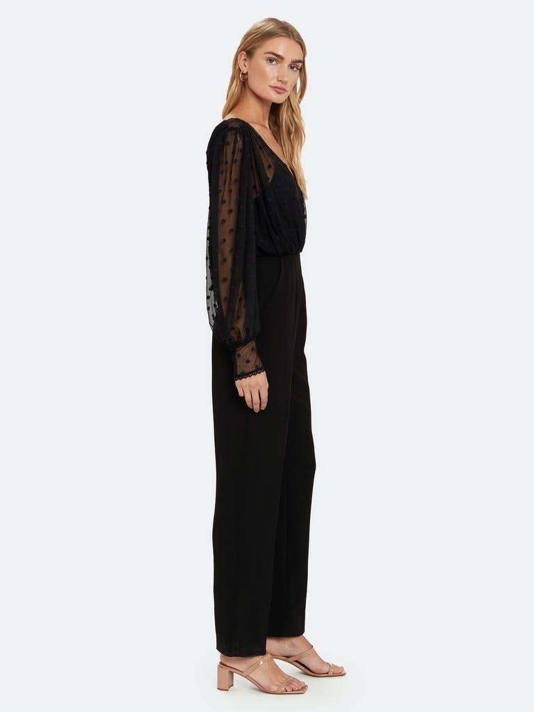 Saloni Bernadette Flocked Tulle and Crepe Jumpsuit product image