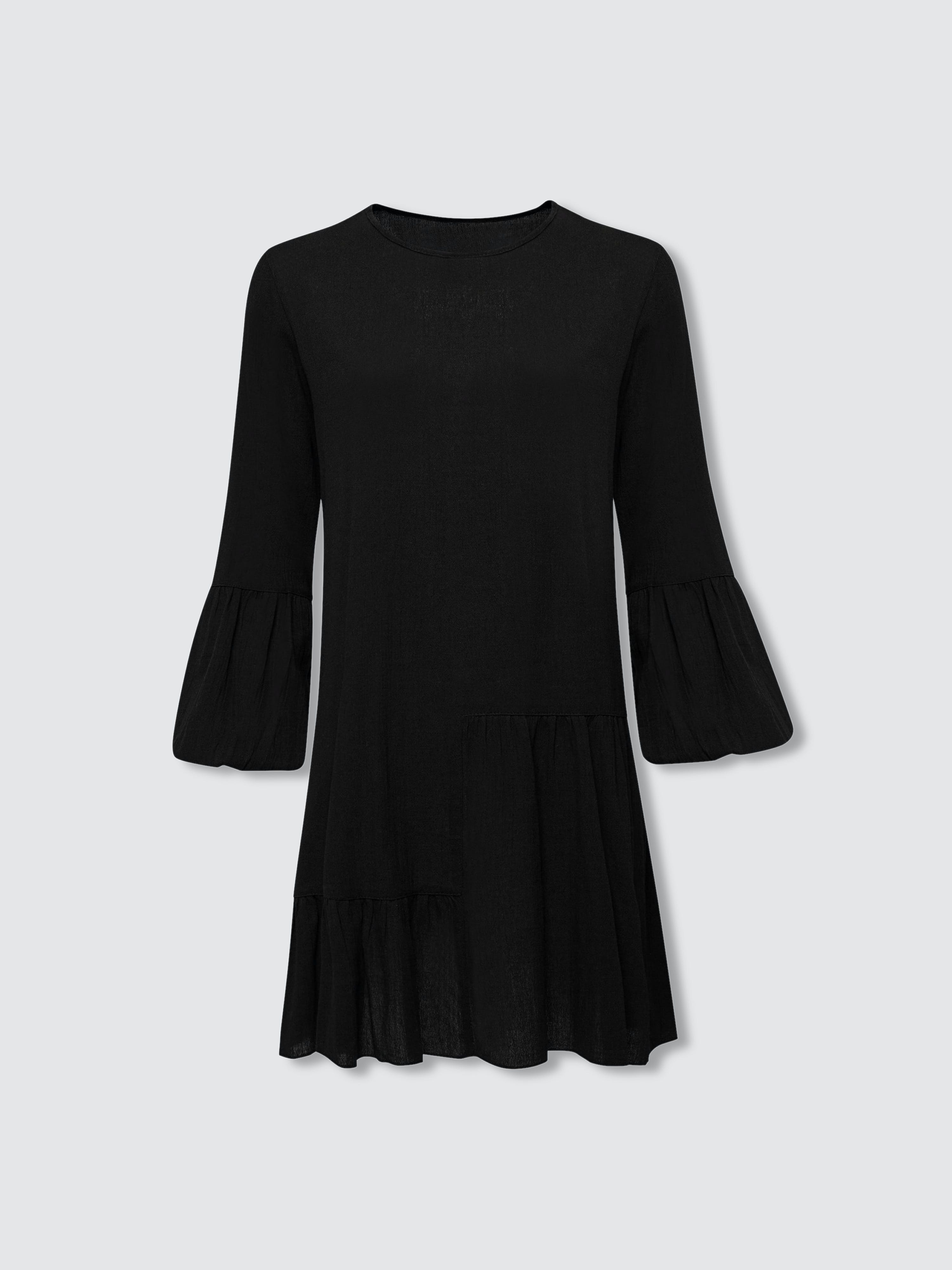 Secret Language Gaia Mini Dress In Black