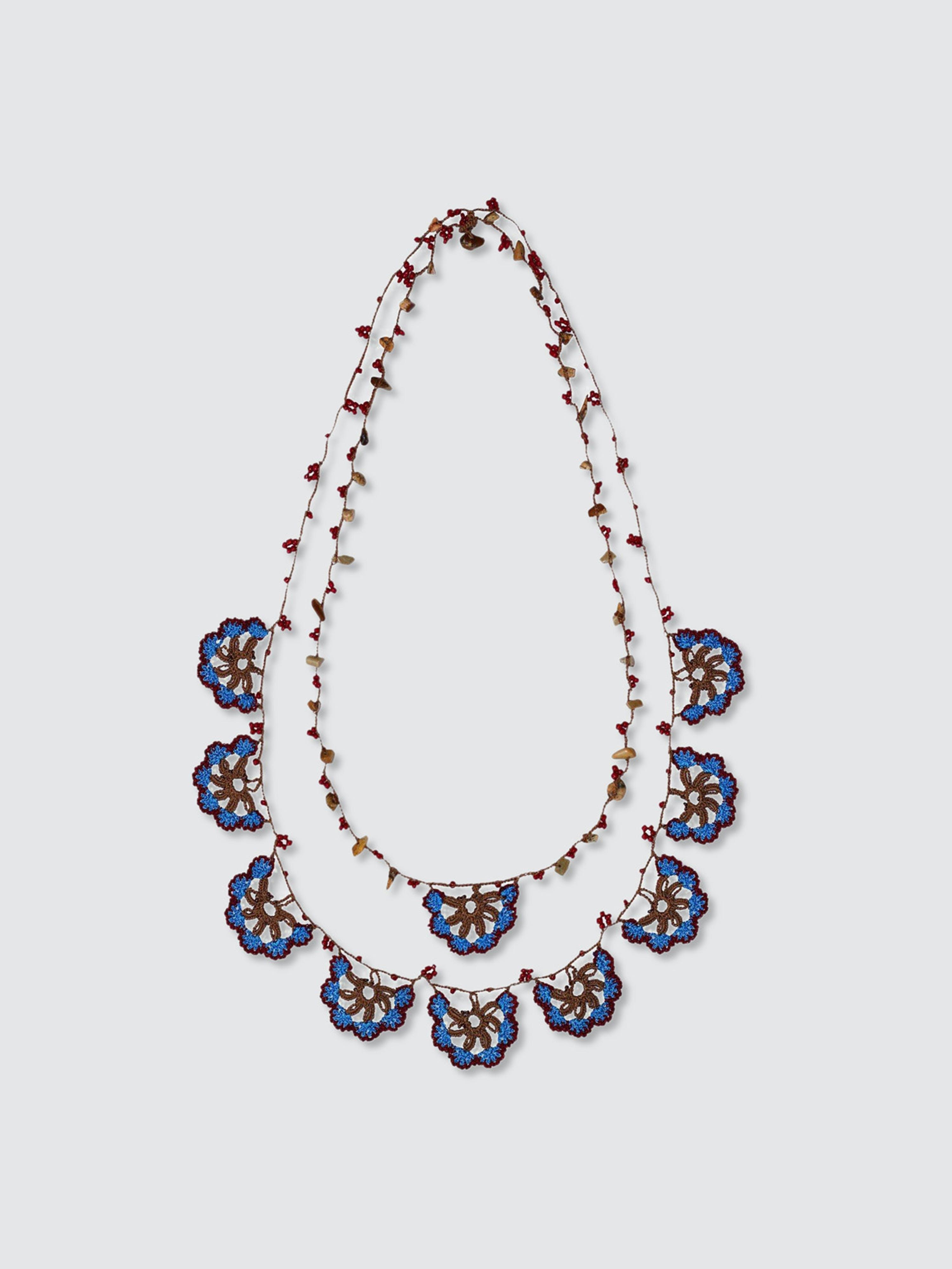 Secret Language Pedrera Long Necklace In Brown