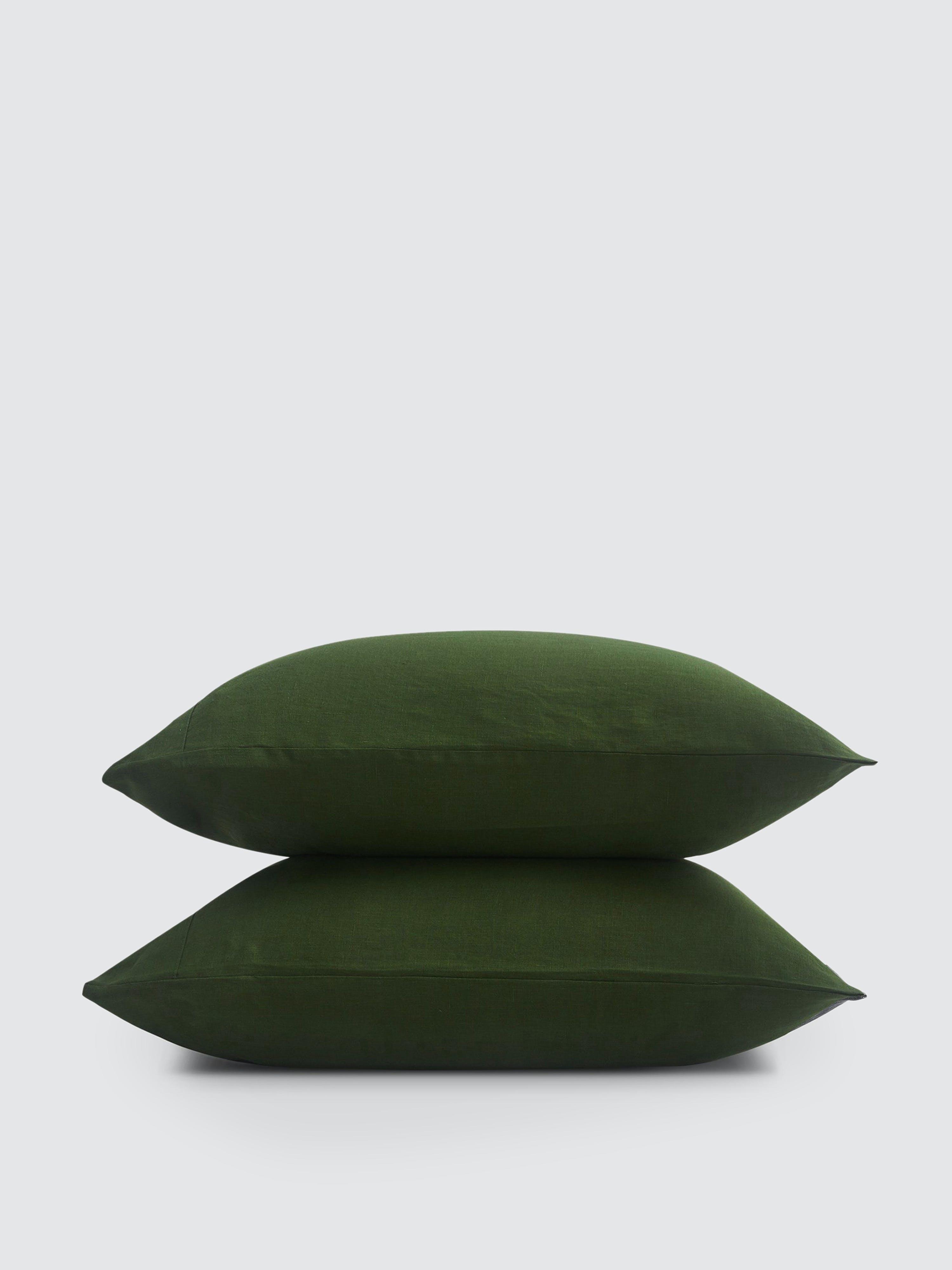 Sijo French Linen Pillowcase Set In Green