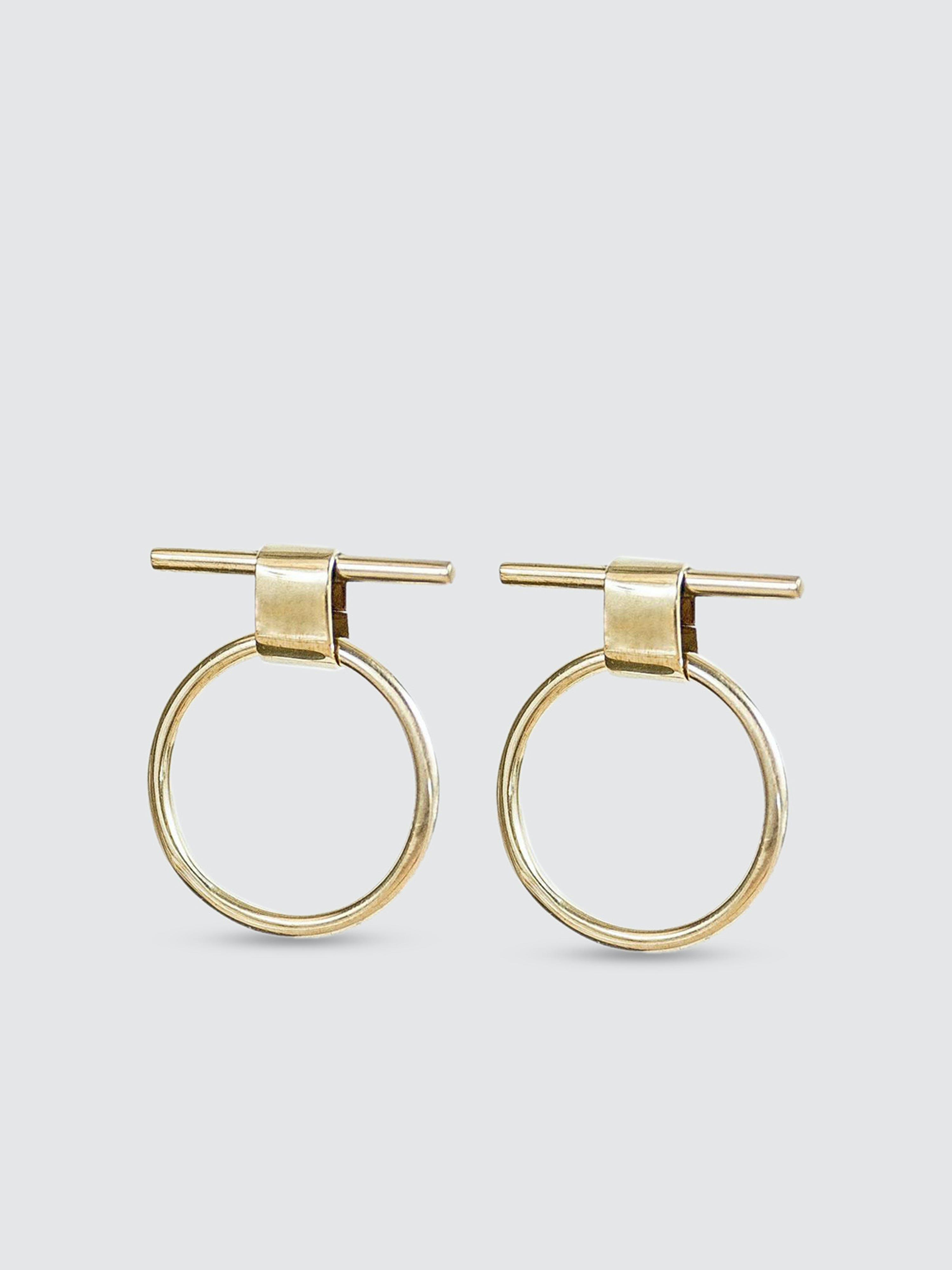 Soko Isle Stud Earrings In Gold