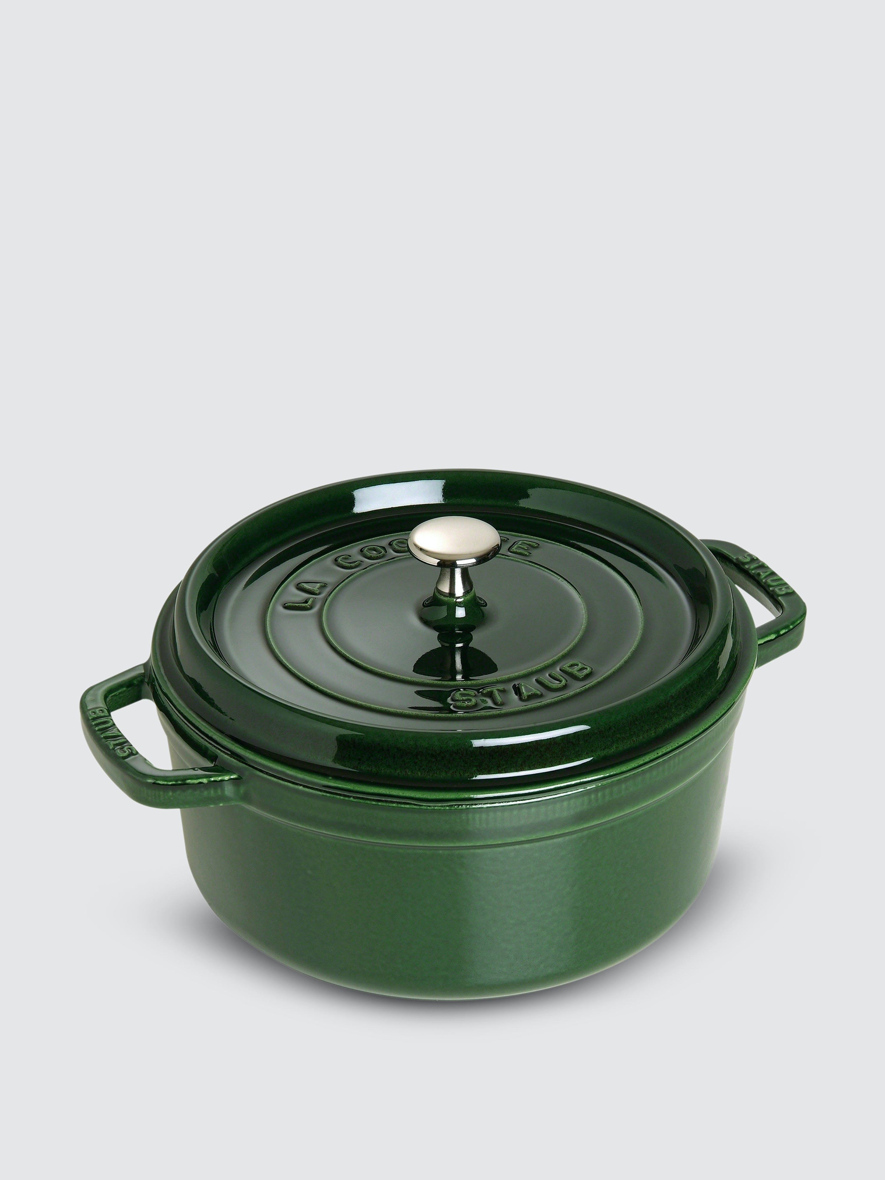 Staub 7-qt Round Cocotte In Basil