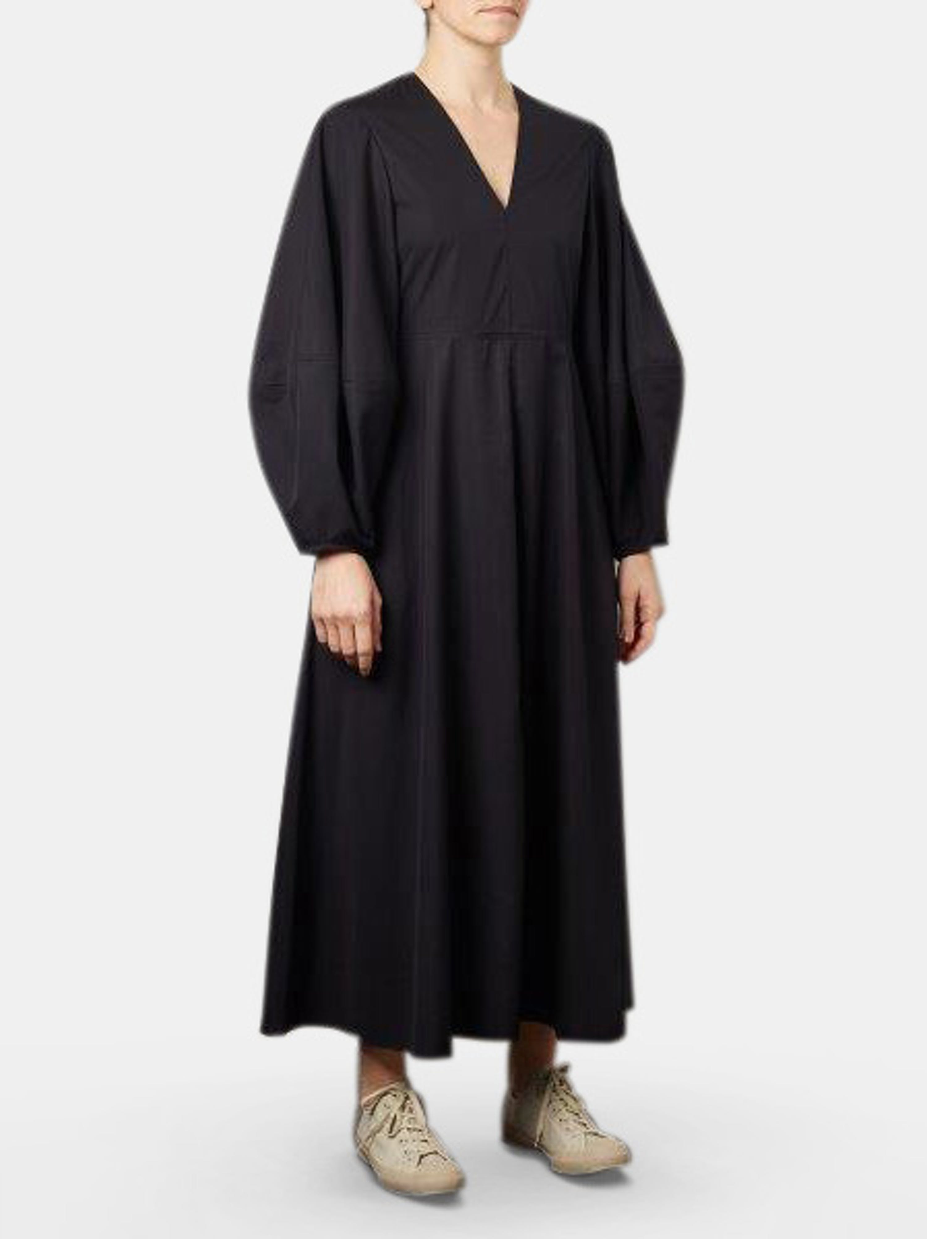 Studio Nicholson Convex Sleeve Dress In Black