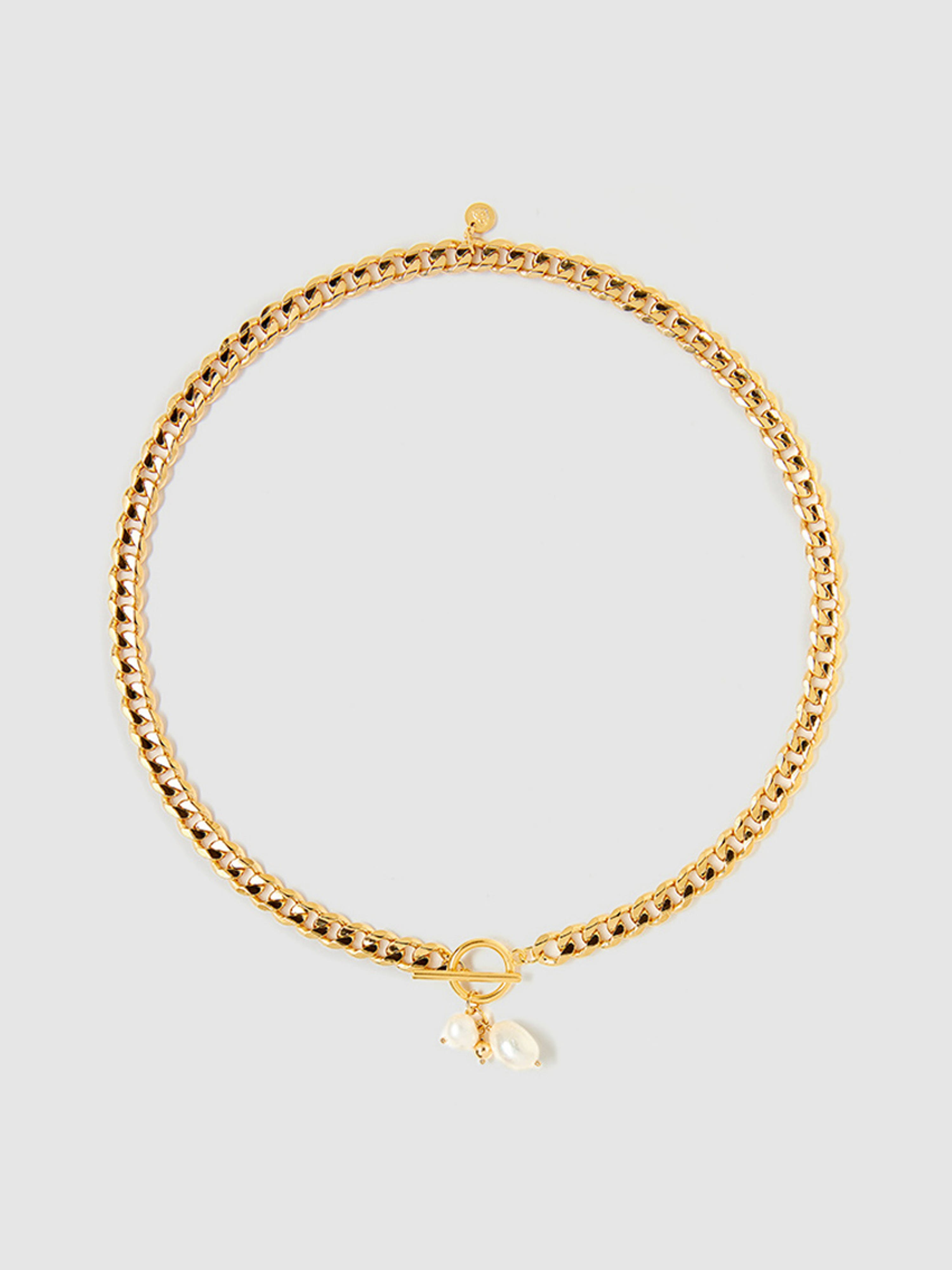 Tess + Tricia Billie Pearl Necklace In Gold