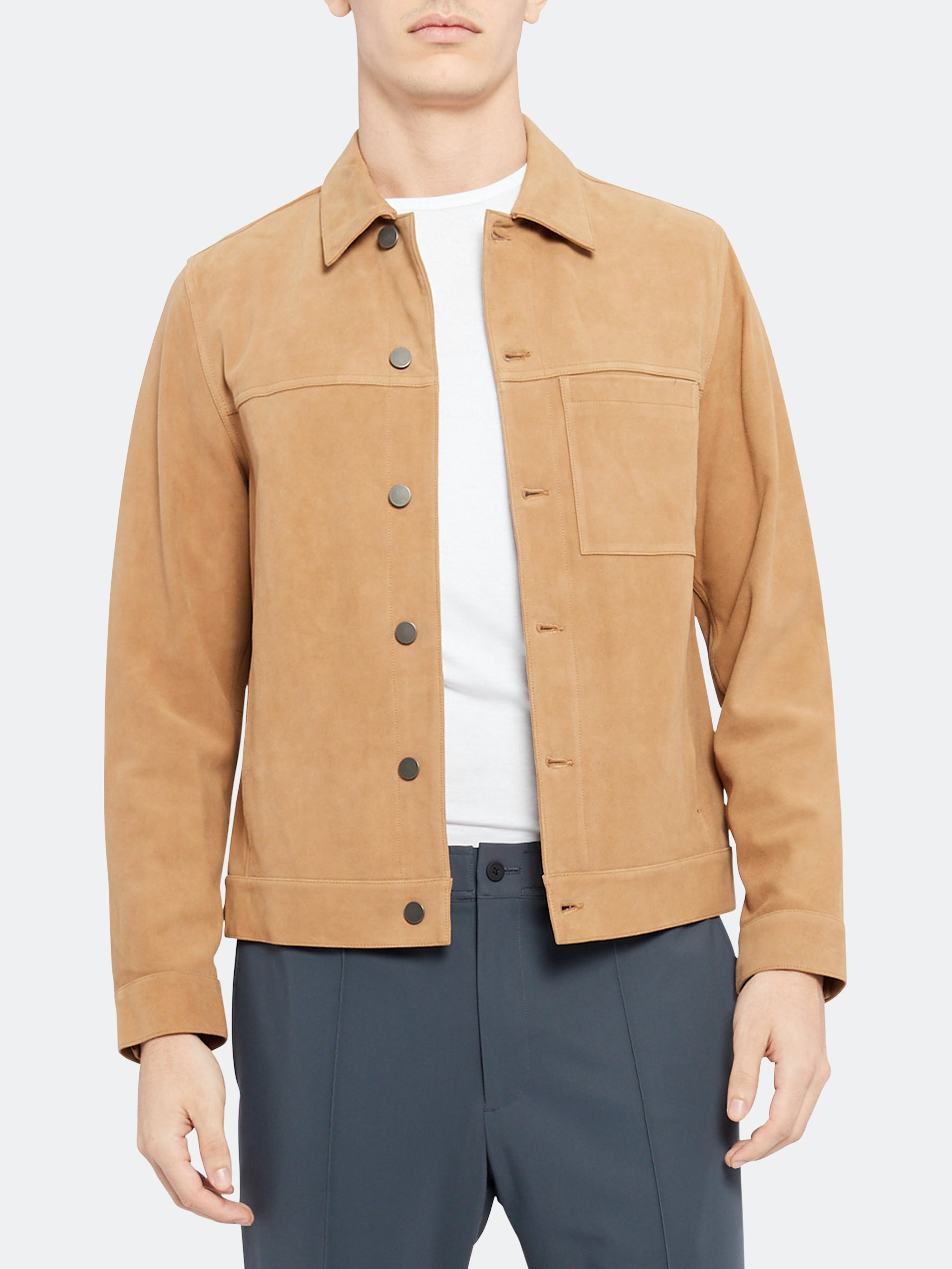 Theory THEORY PATTERSON SUEDE JACKET