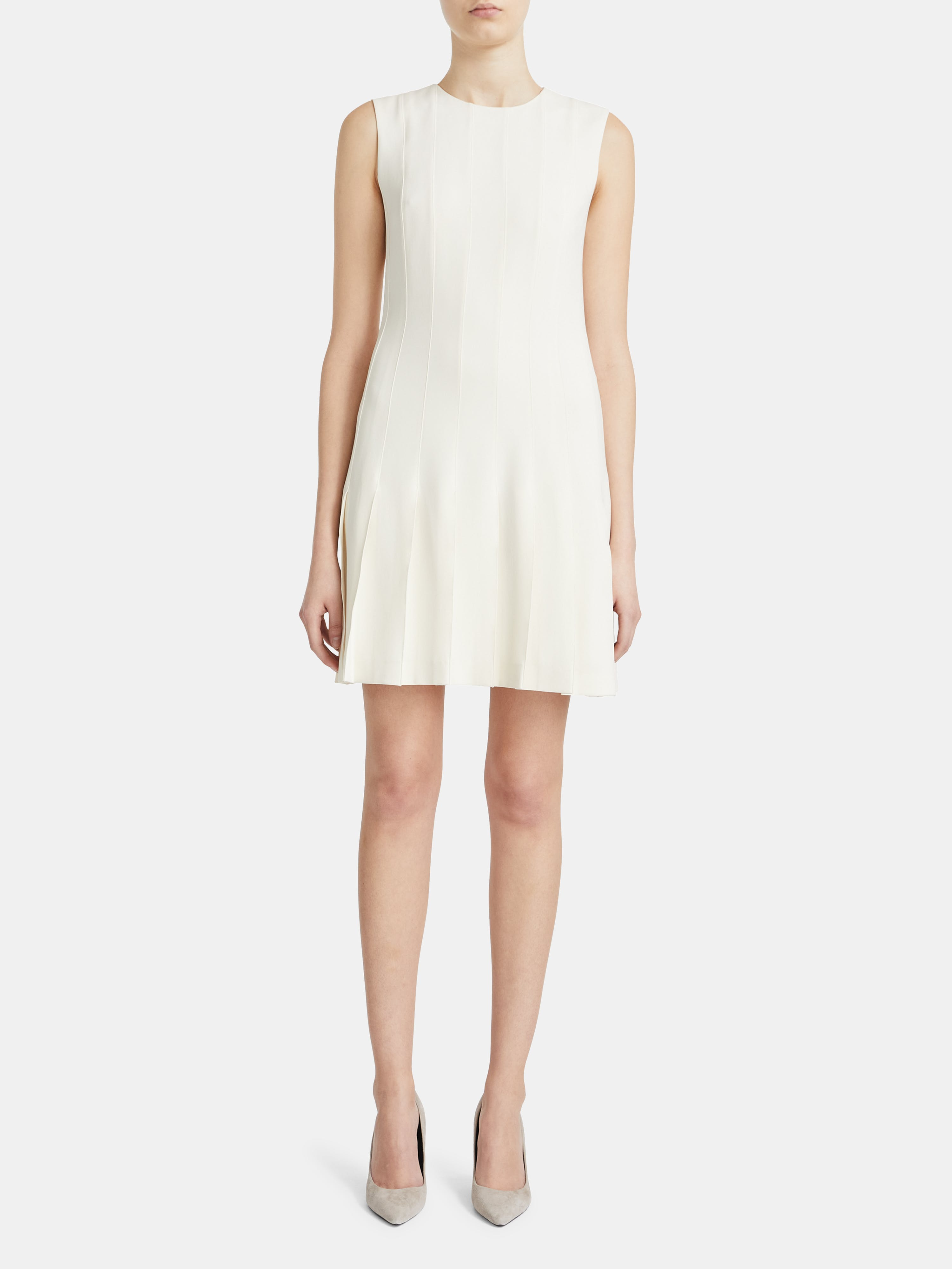 Theory PINTUCK SLEEVELESS MINI DRESS