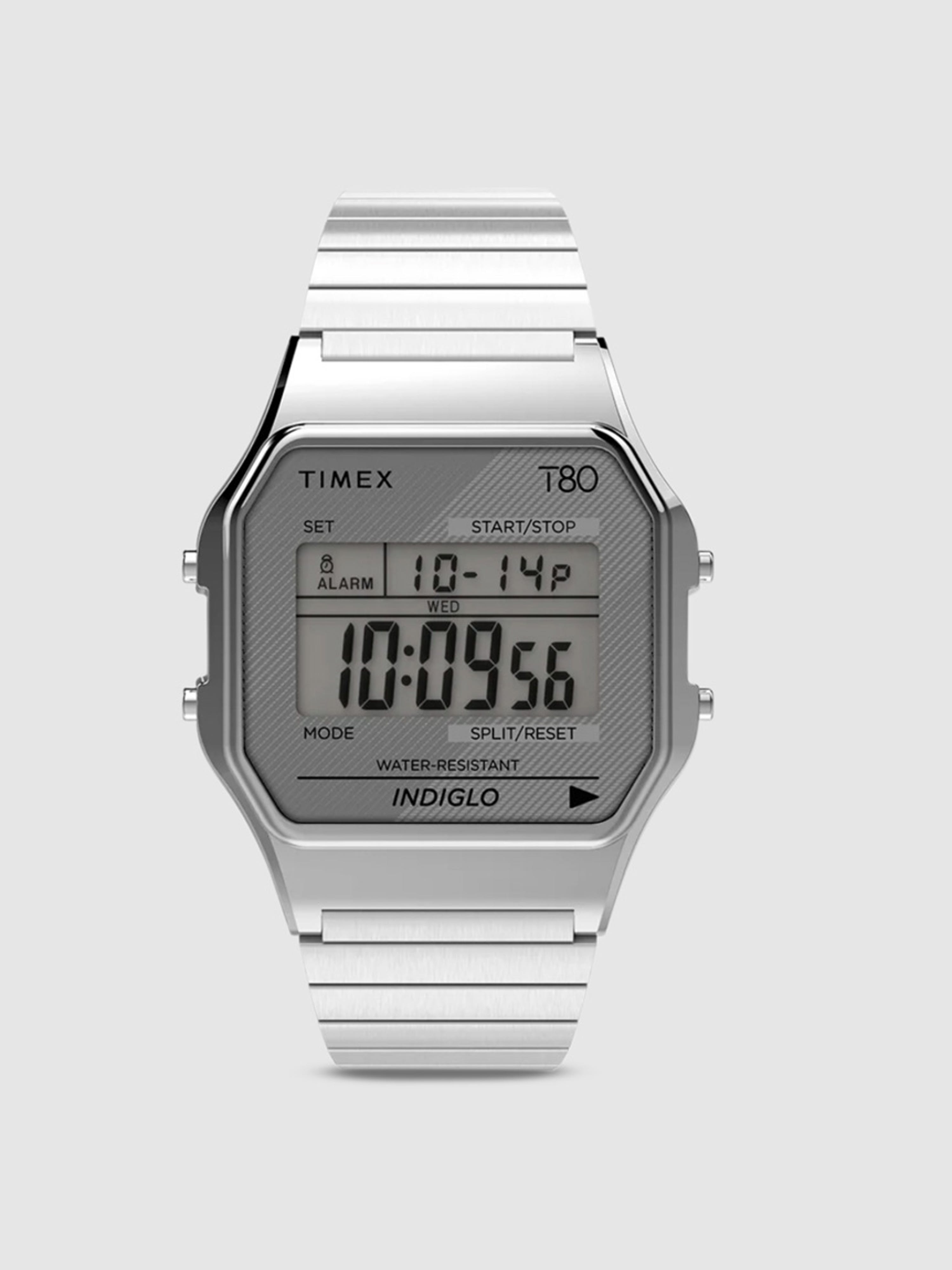 TIMEX TIMEX T80 34MM STAINLESS STEEL WATCH