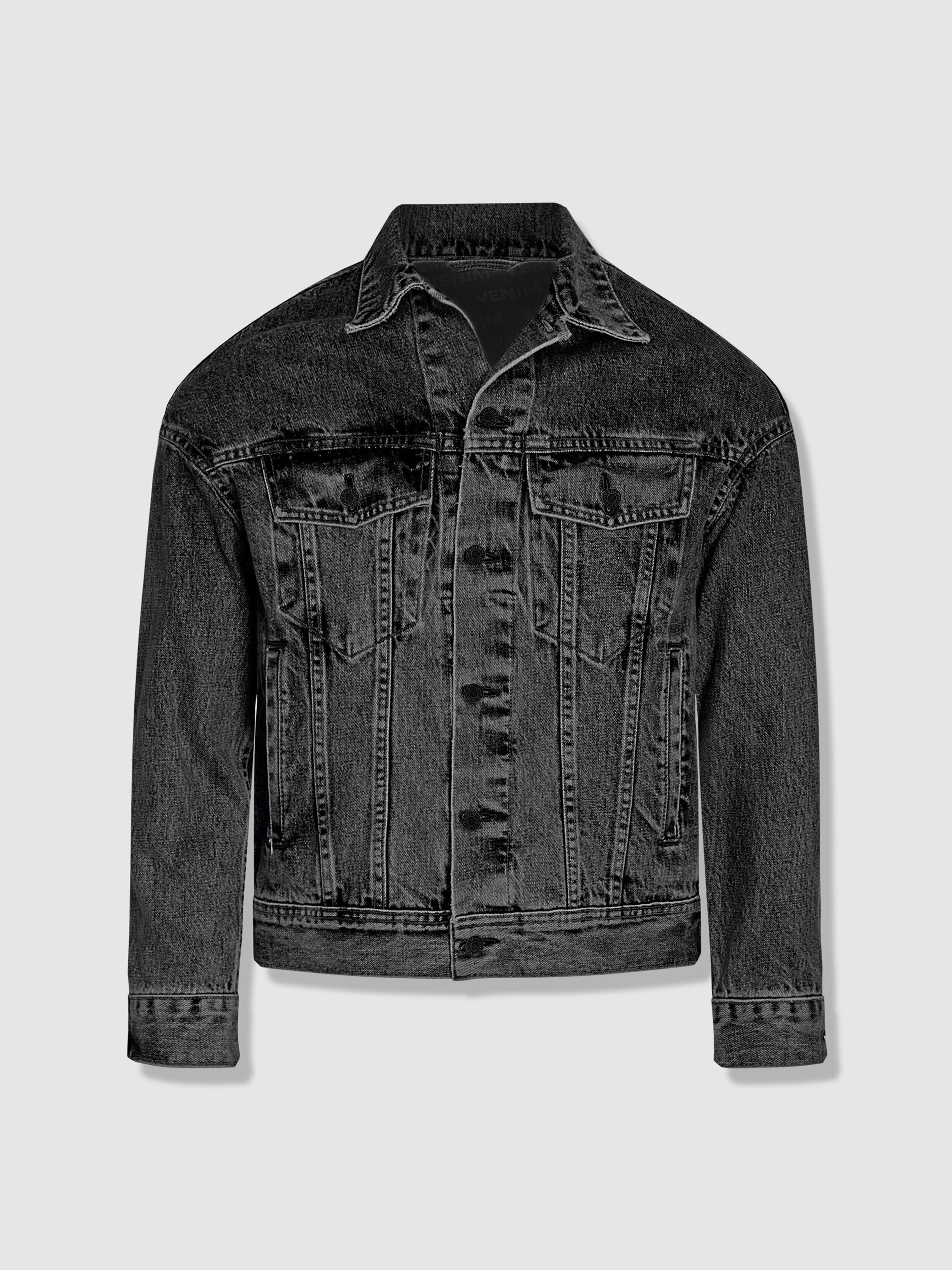 Venim Shorter Washed Black Denim Jacket