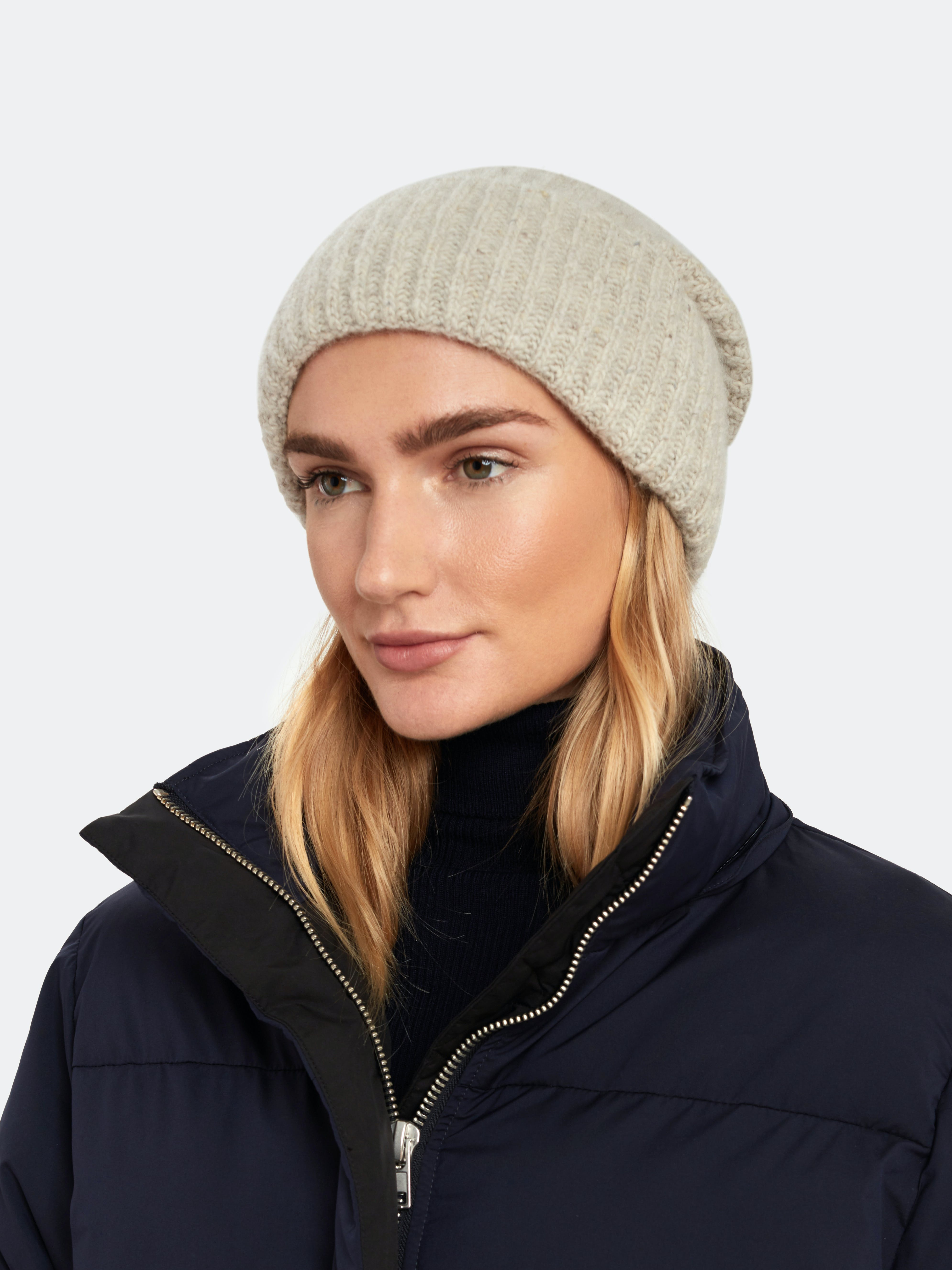 Vince Ribbed Beanie Buttermilk One Size